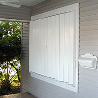 closed accordian shutters